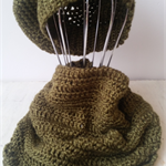 French style crocheted snood / cowl