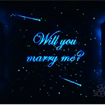 Will you marry me? - Star Window featuring glow in the dark painted stars.