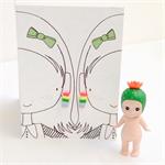 Earring Card. Rainbow strips.