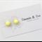 Handmade Polymer Clay Earrings Bright Yellow Round