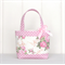 Mini Tote Bag for Little Girls - Pink Floral