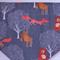 Embroidered reversible dog bandanas.