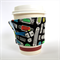 Coffee Cup Cuff - Computer Ports on Black