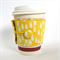 Coffee Cup Cuff - White Drops on Yellow