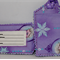 Elsa -frozen fabric luggage tag.
