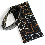 Padded Sunglasses Pouch with stylish glasses design
