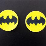 12 PRE CUT EDIBLE BATMAN RICE PAPER WAFER CARD CUPCAKE  TOPPERS