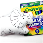 Colour Me Dinosaur Triceratops with Washable Markers
