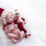 Newborn Christmas Set Bonnet And Elf Photo prop