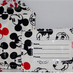 Mickey mouse fabric luggage tags.
