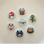 Woodland themed Cupcake Toppers