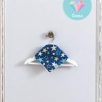 Blue Stars Baby Dribble Bib - Small