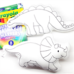 Colour Me Dinosaurs Triceratops and Stegosaurus with Washable Markers