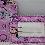 Anna -frozen fabric luggage tag.