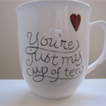 Hand painted mug for the tea drinker!