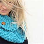 """The Red Essy Loop Scarf """"Bombay Sapphire"""""""