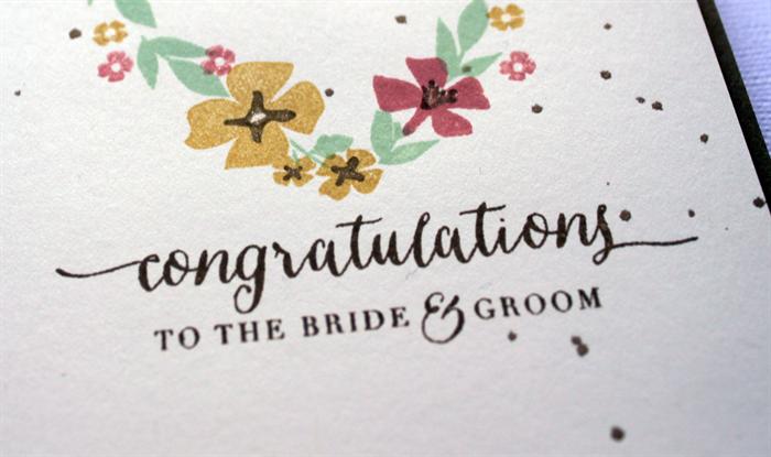 congratulations to the bride groom card