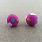 SALE: Polymer Clay Earrings - Purple with Coloured Spots