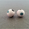 SALE: Polymer Clay Earrings - White Sparkle with Coloured Spots