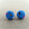 SALE: Polymer Clay Earrings - Blue with Coloured Spots