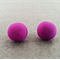 SALE: Polymer Clay Earrings - Brightest Bright Purple