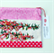 Zipper Pouch: Australian Flora Pink Heath Vintage Linen