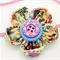 Bella-Button Flower Headband - Hearts Cream