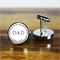 Personalised stainless steel cufflinks for Fathers Day - Dad Est.