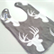 Stag on grey bib