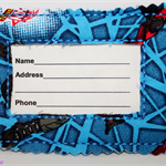 Spiderman fabric luggage tag.