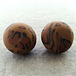 Polymer Clay Earrings - Leopard Print