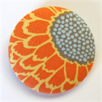 BIG Button Brooch - Orange Petal Flower