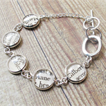 Anne of Green Gables Bracelet. Vintage Literature Text LM Montgomery Words