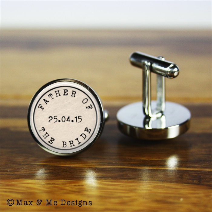Personalised Wedding Cufflinks A Gift For The Father Of Bride
