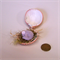 DORMOUSE IN NEST, Pink Cockle Shell, Mixed Media, Miniature Animal