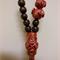 Pendant, Oriental style, red & gold