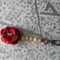 Red Flower Key Chain