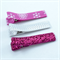 Christmas Hair Clip Trio - pink & silver