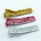 Glitter Hair Clip Trio - gold, pink, silver
