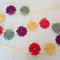 "Pretty Crochet Doily Flower Bunting called ""Circus"""