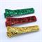 Christmas Hair Clip Trio - glitter ribbon - green, red, gold
