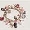 Pink/Burgundy Charm Bracelet