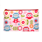 Owl and Toadstools Zip Pouch / Zippered Case / Zipper Bag