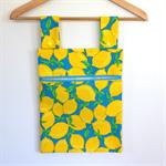 Laundry Fun Peg Bag - Zesty Yellow Lemons on Blue