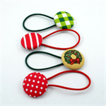 Set of 4 Christmas Hair Ties