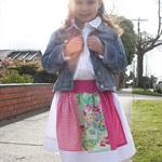 Spinning Skirt 'Pink/Green' - Sizes: 2, 3, 4, 5 & 6