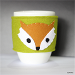 Green Fox Coffee Cup Cosy