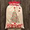 Linen/Spot Santa Sack (5 letters)