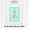 Love You My Deer Monogram A4 Print