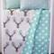 Reversible cot quilt with Aqua Dot and Deer Head